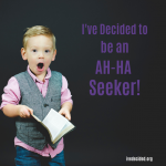 Are you an ah-ha seeker?